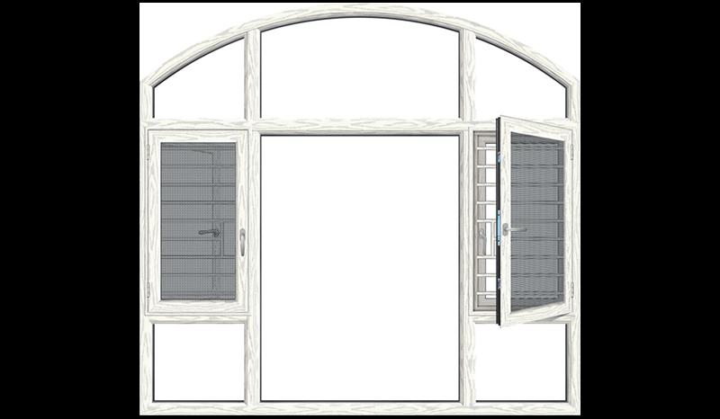 断桥隔热平开窗135系列 断桥隔热平开窗135系列