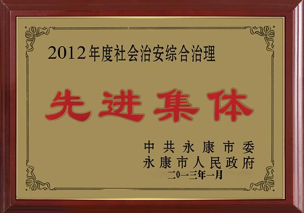2012年度社会治安综合治理先进集体