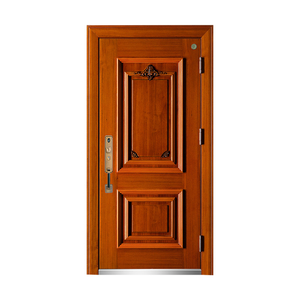 Solid wood villa armored door