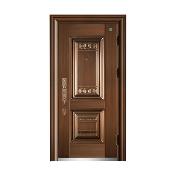 钢木防盗安全门 GLL-GM-03 仿真铜 前钢后木