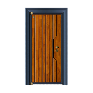 German solid wood armored door