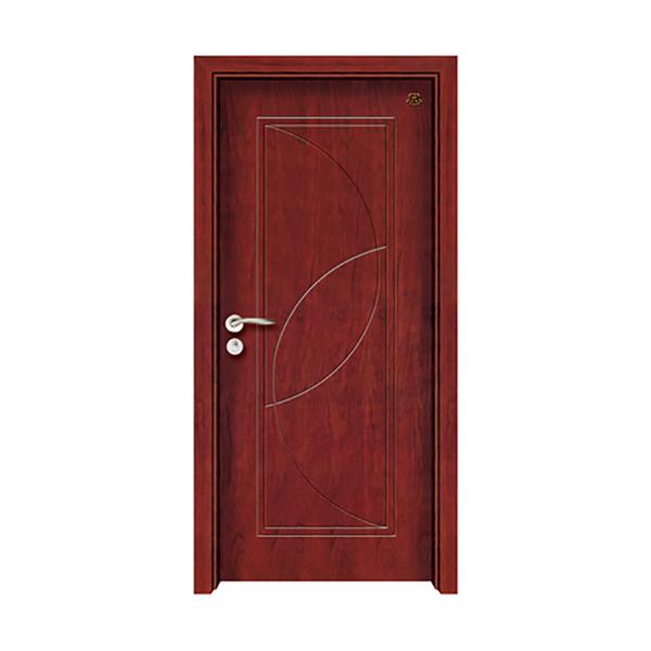 实木油漆套装门 HT-SB-16红胡桃