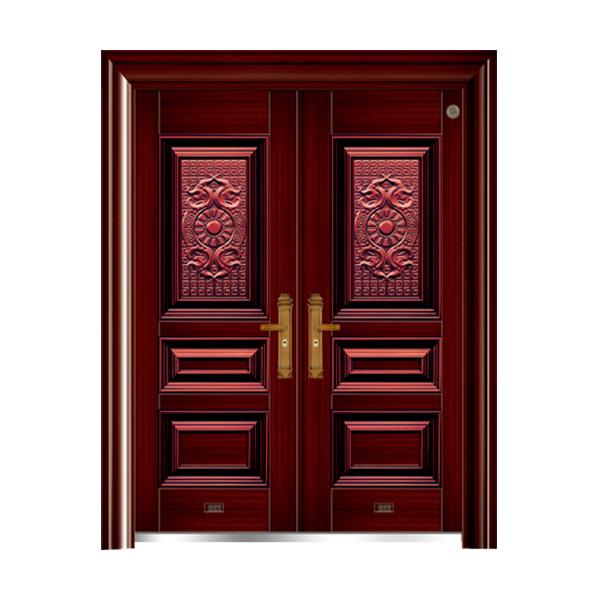 别墅大门系列 GLL-F-1618经典红木