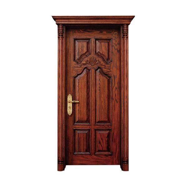 实木油漆套装门 HT-SC-201橡木仿古