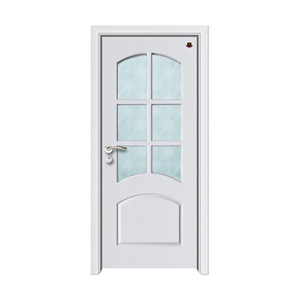 实木油漆套装门 HT-SB-14纯白