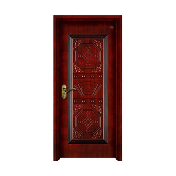 实木油漆套装门 HT-SA-116仿古漆