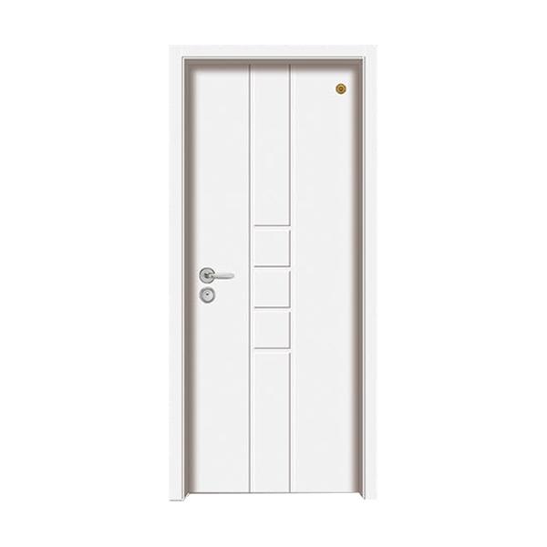 实木油漆套装门 GLL-S-1659B纯白