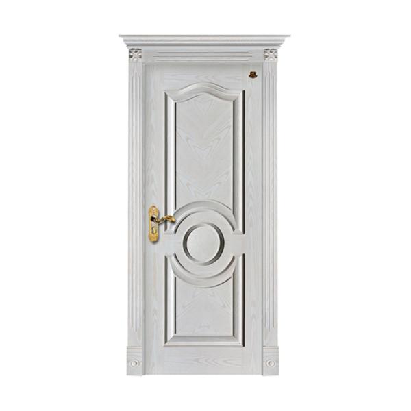 实木油漆套装门 HT-SC-121橡木仿古白