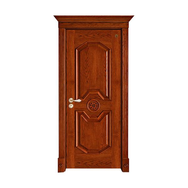 实木油漆套装门 GLL-S-1611AH橡木仿古