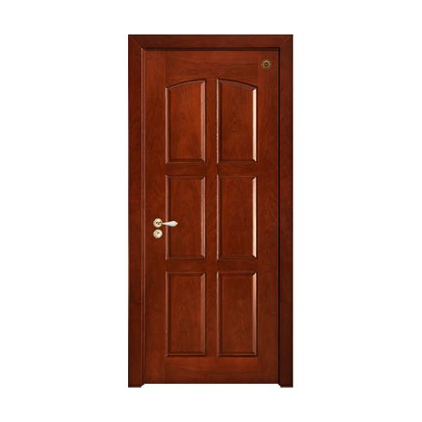 实木油漆套装门 GLL-S-1629C红胡桃