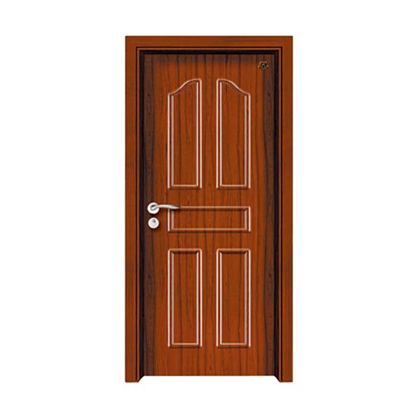 实木油漆套装门 HT-SB-2柚木本色