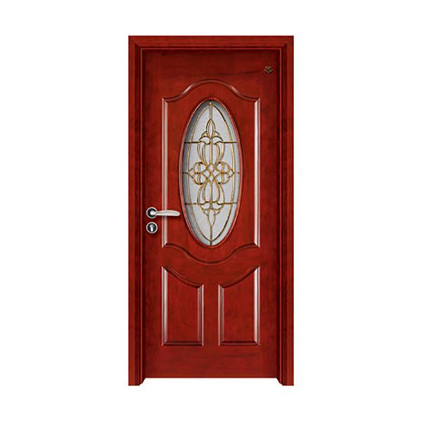 实木油漆套装门 HT-SA-903红胡桃