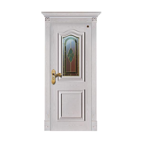实木油漆套装门 HT-SC-125橡木仿古白