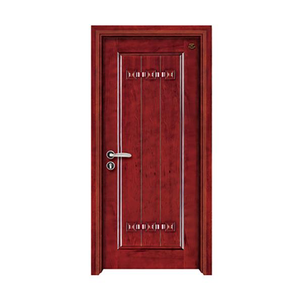 实木油漆套装门 HT-SA-5红花梨