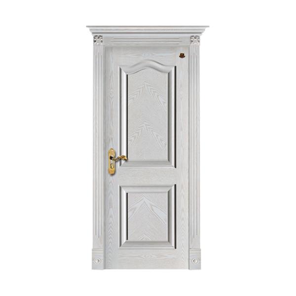 实木油漆套装门 HT-SC-119橡木仿古白