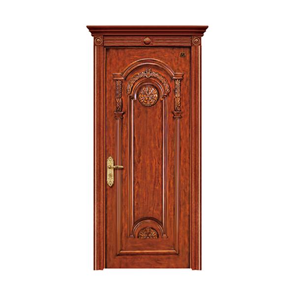 实木油漆套装门 HT-SC-128黑胡桃
