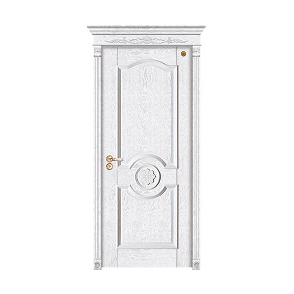 实木油漆套装门 GLL-S-1626AH橡木仿古白