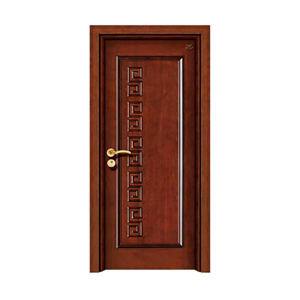 实木油漆套装门 HT-SA-A红胡桃