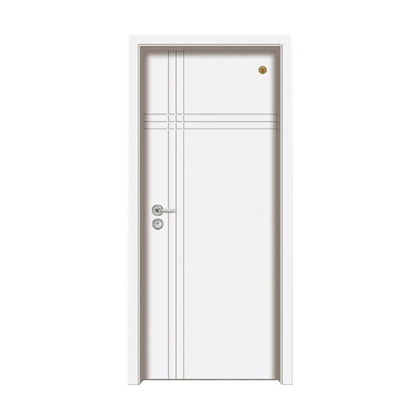 实木油漆套装门 GLL-S-1655B纯白