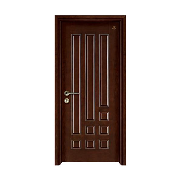 实木油漆套装门 HT-SZ-1黑胡桃