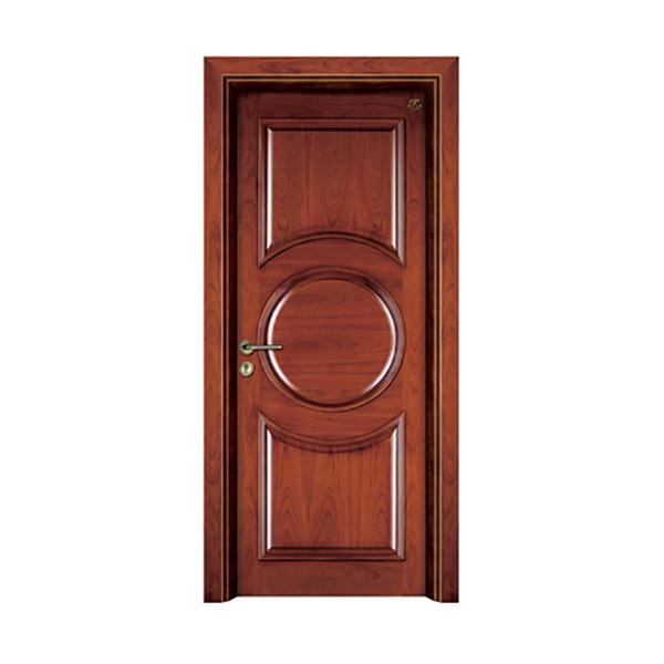 实木油漆套装门 HT-SC-907红胡桃