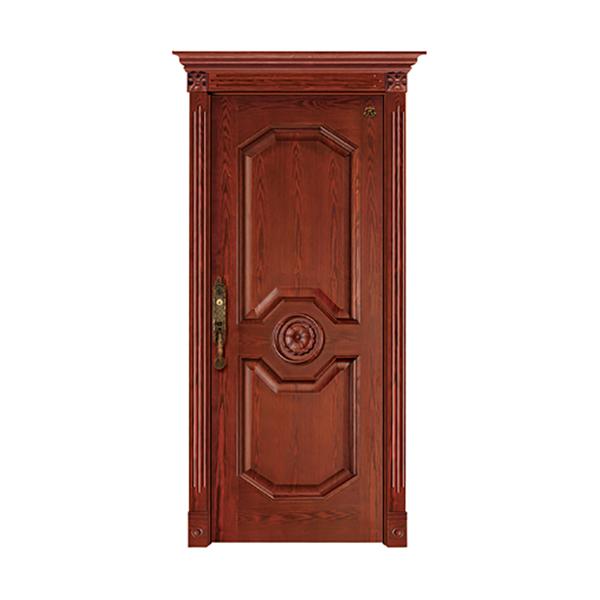 实木油漆套装门 HT-SC-129欧式仿古