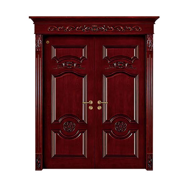 实木油漆套装门 GLL-S-1605AH红胡桃