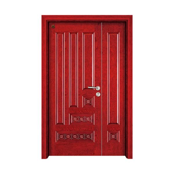 实木油漆套装门 HT-SD-801花梨