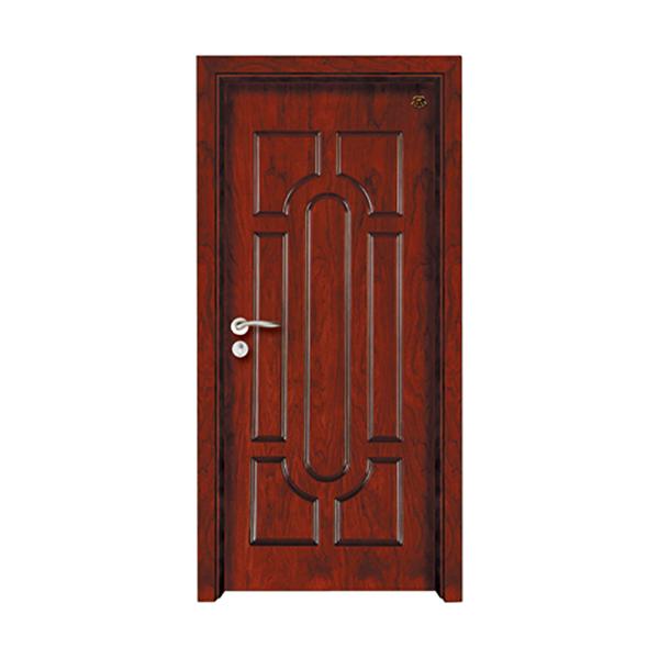 实木油漆套装门 HT-SB-21红胡桃