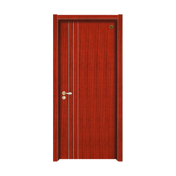 实木油漆套装门 GLL-S-1637B柚木
