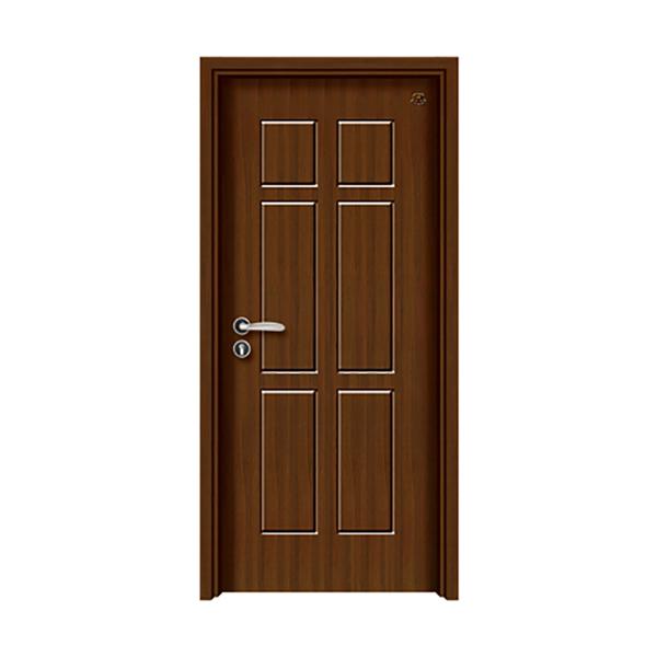 实木油漆套装门 HT-SB-6黑胡桃