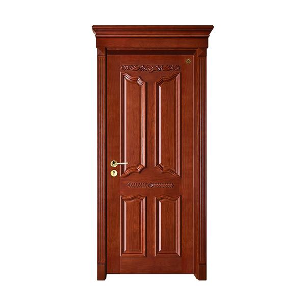 实木油漆套装门 GLL-S-1613HH红胡桃