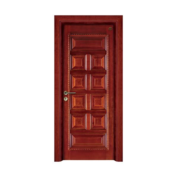 实木油漆套装门 HT-SC-906黑胡桃