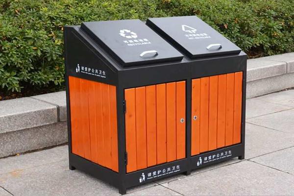 贝奇环保2018新款户外垃圾桶安装工程案例图片