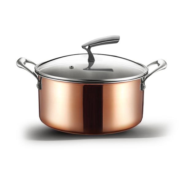 三层铜中意汤锅