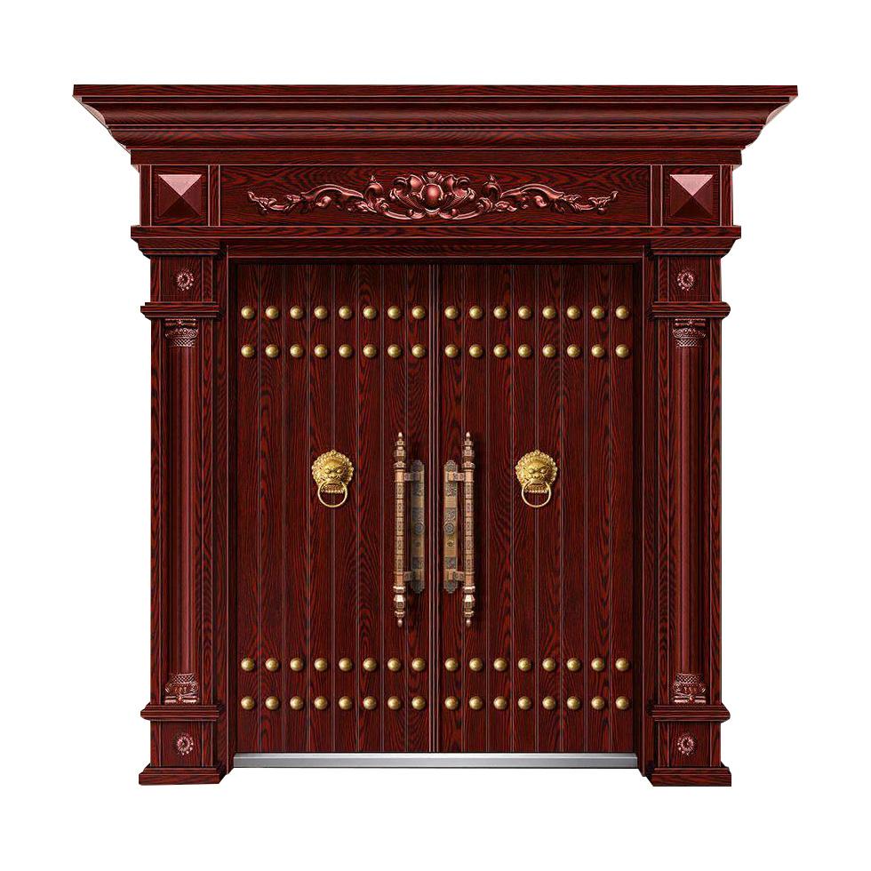 精雕木紋門JW-1032-古典對開門