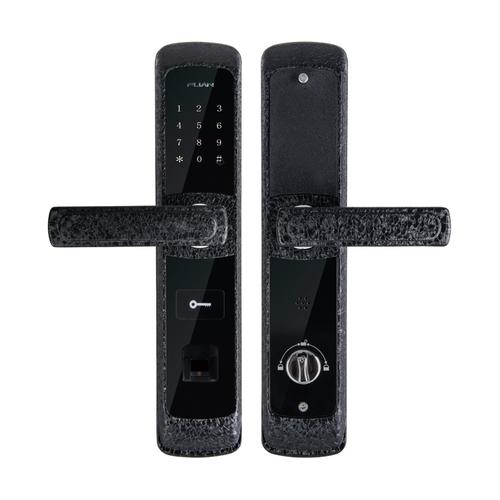 富新智能锁FA-8803黑色冰裂纹
