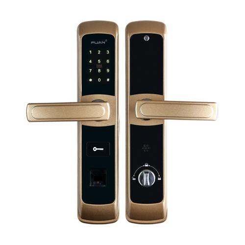 富新智能锁FA-8803铝合金四合一指纹锁