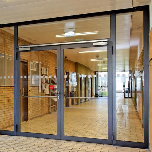 富新医疗门门诊大厅玻璃门-2