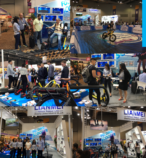 2019 April 11-14th, we attended in Global Sources Fair in Hongkong to show escooters.