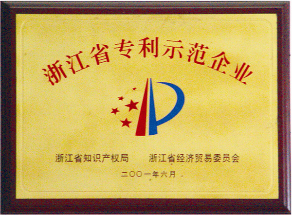 浙江省專利示范企業