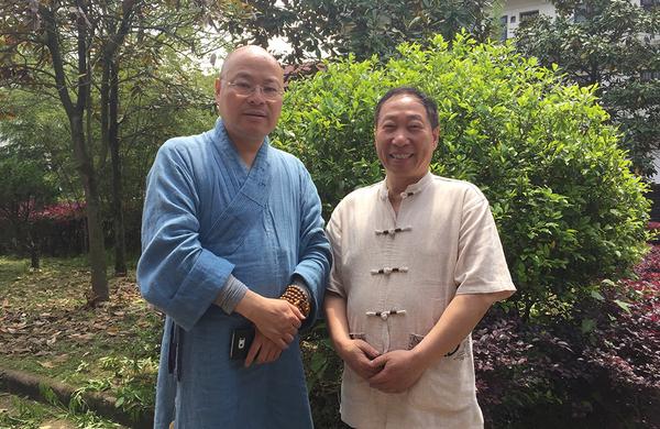 杭州靈隱寺方丈、中國佛教協會常務理事與程育全大師合影