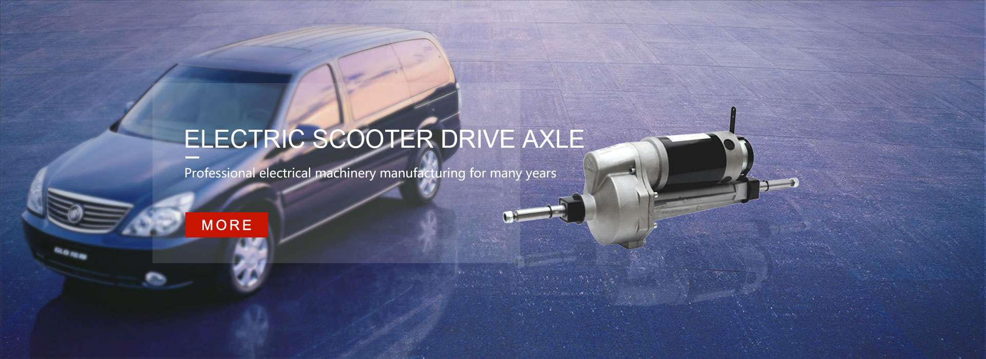 Electric scooter drive axle