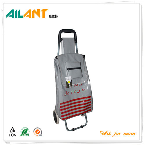PVC Shiny fabric  shopping trolley ELD-C402-5