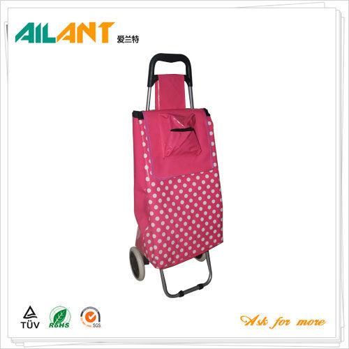 PVC Shiny fabric  shopping trolley ELD-C402-4