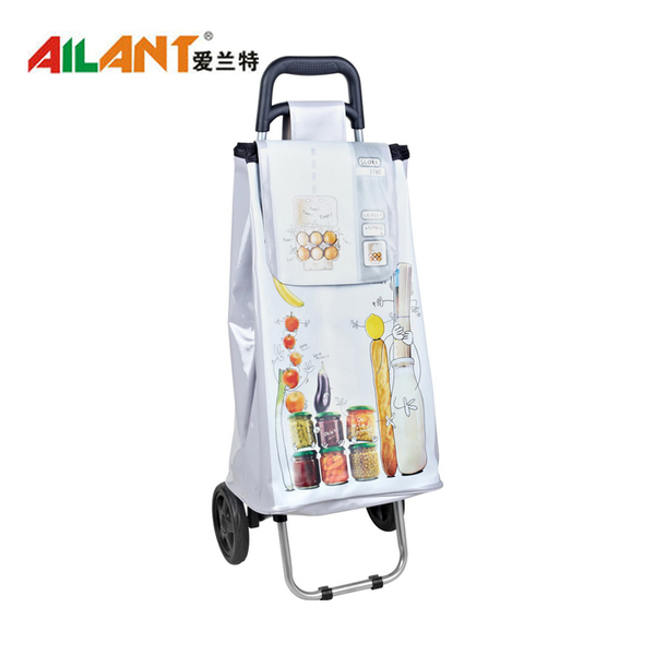 PVC Shiny fabric  shopping trolley ELD-C402-2