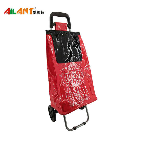 PVC Shiny fabric  shopping trolley ELD-C402-5
