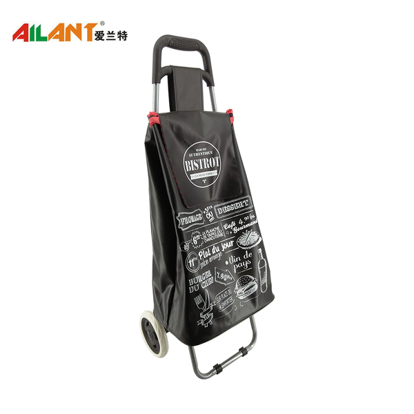 PVC Shiny fabric  shopping trolley ELD-C402