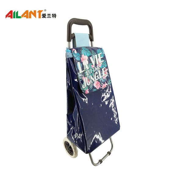 PVC Shiny fabric  shopping trolley ELD-C402-3