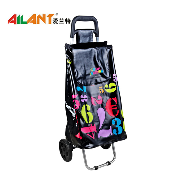 PVC Shiny fabric  shopping trolley ELD-C401